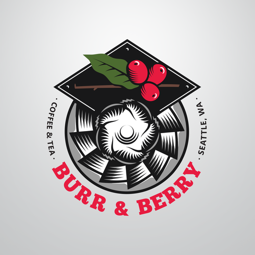 Berry logo with the title 'coffee logo design'