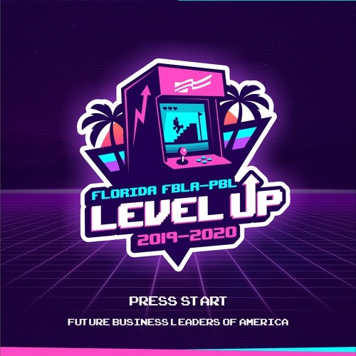 Florida logo with the title 'Level Up logo'