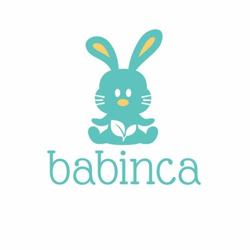 Rabbit logo with the title 'Create a beautiful logo for BABINCA baby goods'
