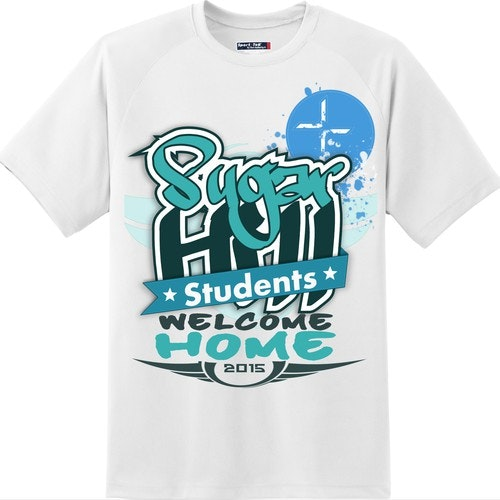 Graffiti t-shirt with the title 'T-shirt design for sugarhills church students 2015'