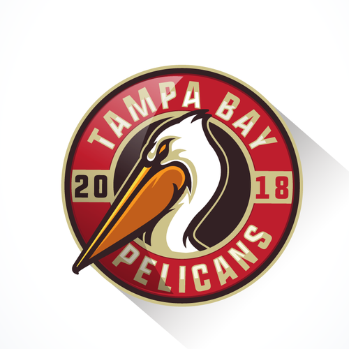 Pelican logo with the title 'Logo for Tampa Bay Pelicans, paintball team.'