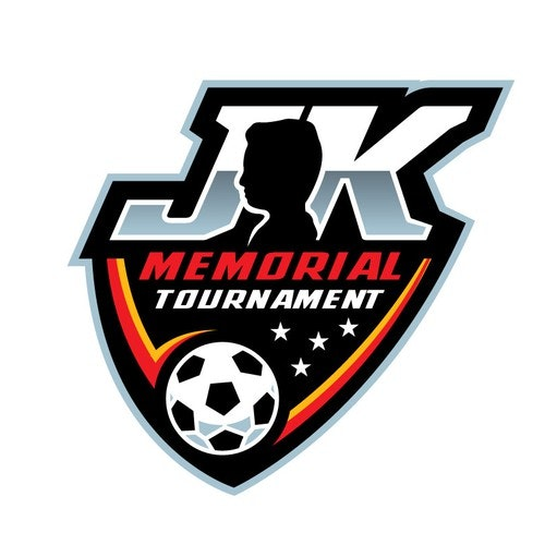Soccer logo with the title 'JK Memorial Tournament'