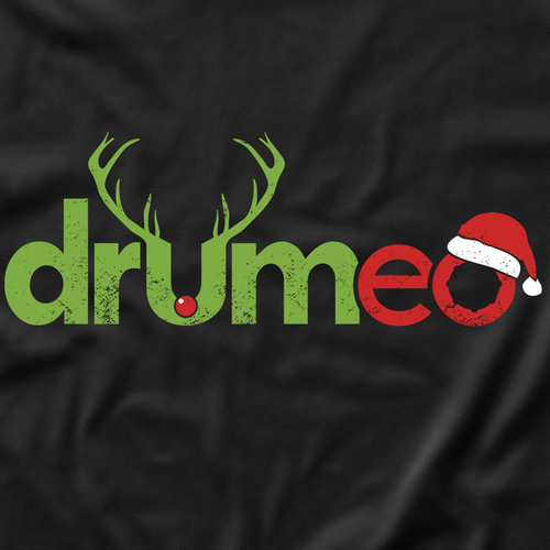 Funny t-shirt with the title 'Christmas Drummer T-Shirt'
