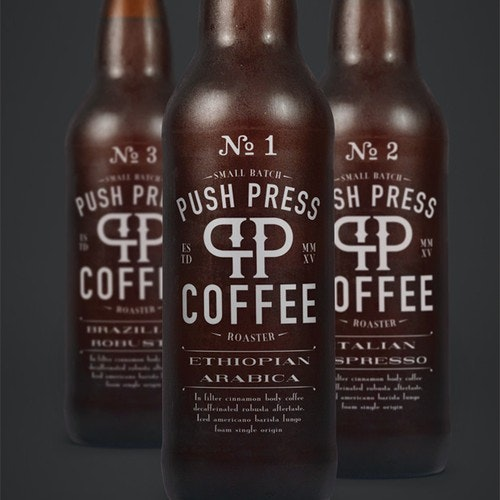 Bold logo with the title 'Logo Design for Cold Brew Coffee and Small Batch Roaster'
