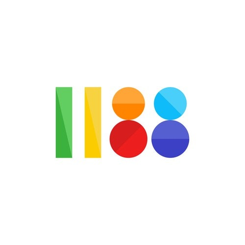 Colorful logo with the title 'Colorful logo design for a digital agency called 1188'