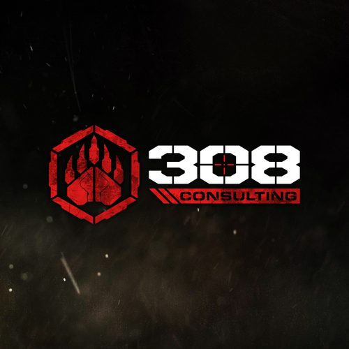 Tactical logo with the title 'Logo design for 308 Consulting'