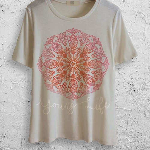 Mandala t-shirt with the title 'Final design for a 1-to-1 T-shirt design contest  '