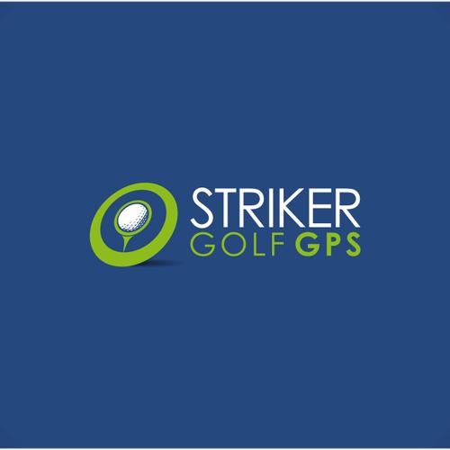 Ball logo with the title 'Striker Golf GPS needs a new logo'