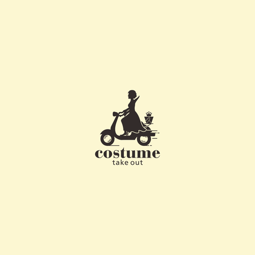 Silhouette logo with the title 'Logo for costume take out'
