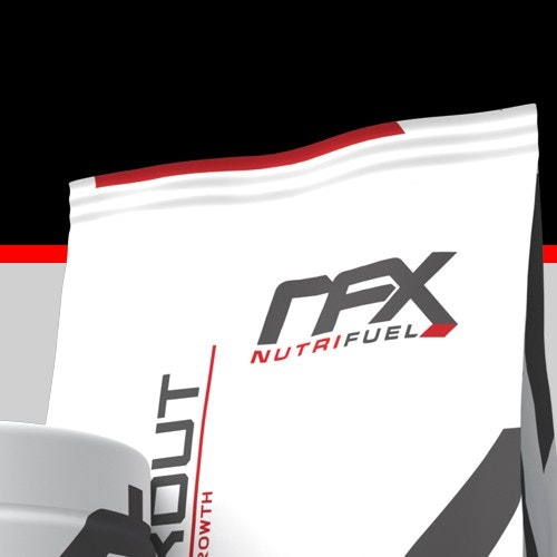 Nutrition logo with the title 'logo for NutriFuel X'
