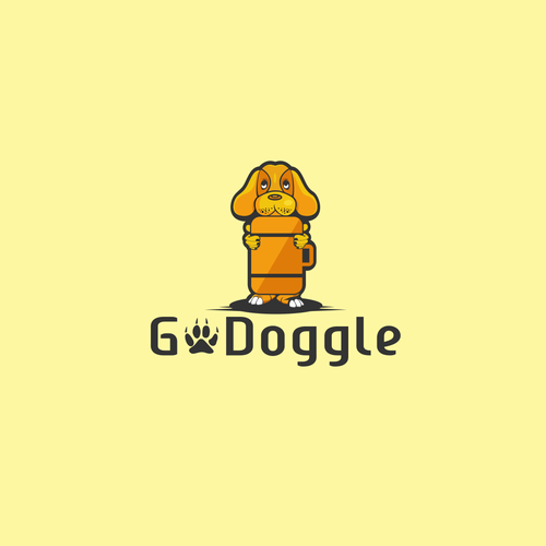 Suitcase logo with the title 'Go Doggle'