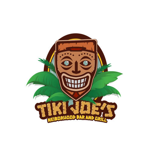 Tiki logo with the title 'Tiki Joe's Bar and Grill'