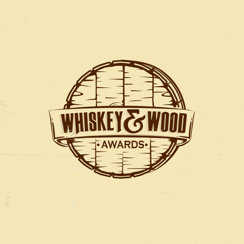 "Spirit logo with the title 'Logo concept for whiskey awards ""Whiskey&Wood""'"