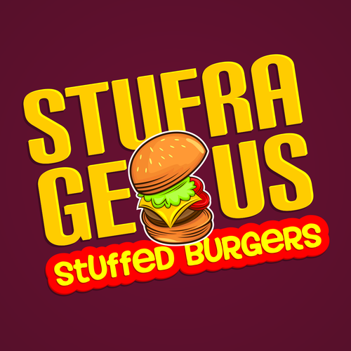 Burger logo with the title 'Burgers Logo'