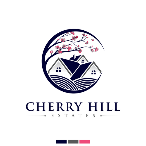 Real estate logo with the title 'Cherry Hills Estates'