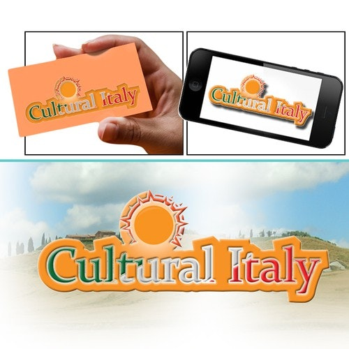 Sunny logo with the title 'Help Cultural Italy with a new logo'