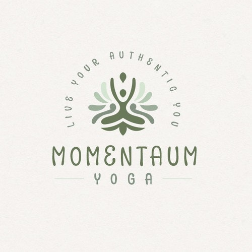 Earth logo with the title 'Earthy Yoga'