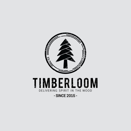 Timber logo with the title 'Logo concept for Timberloom'
