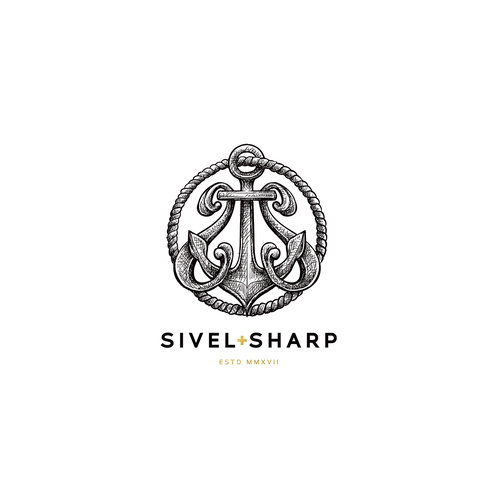 """Sophisticated logo with the title '""""Civil + Sharp"""" - Civil for being a veteran owned brand and sharp for the well-dressed man.'"""
