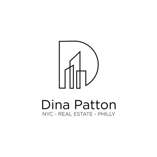D logo with the title 'Three Buildings for Dina Patton'