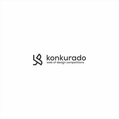 K logo with the title 'Letter K logo concept for konkurado'