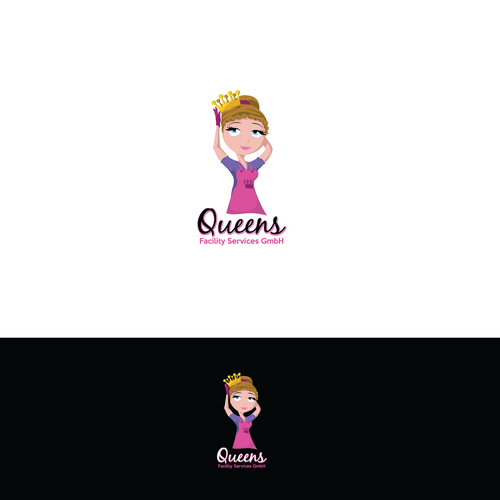 Queen logo with the title 'Cleaning logo'