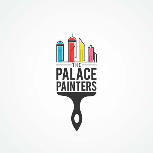 Art Deco logo with the title 'The Palace Painters logo'