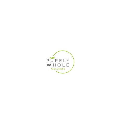 Pure logo with the title 'Design a logo for Purely Whole, a wellness consulting company for real people'
