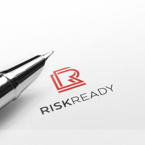 """R logo with the title 'Logo concept """"RISKREADY""""'"""