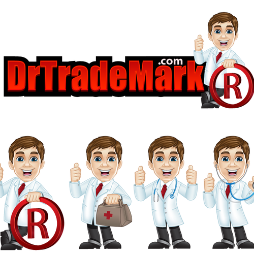 Doctor logo with the title 'Create a winning logo for DrTradeMark.com & win a chance to showcase your work on our site!'