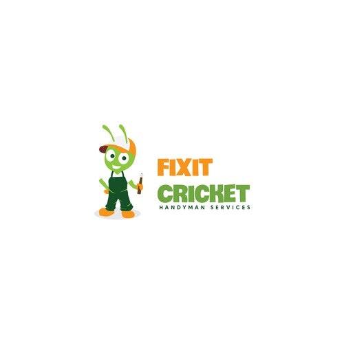Handyman logo with the title 'FIXIT CRICKET logo'