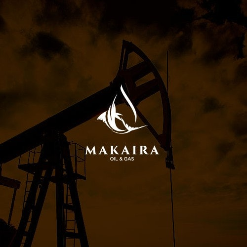 Waterdrop logo with the title 'Design Concept for Oil & Gas company'