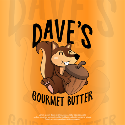 Squirrel logo with the title 'Dave's butters '