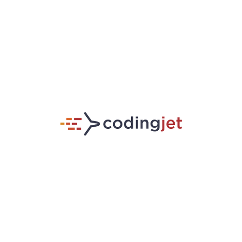 Plane logo with the title 'coding jet'