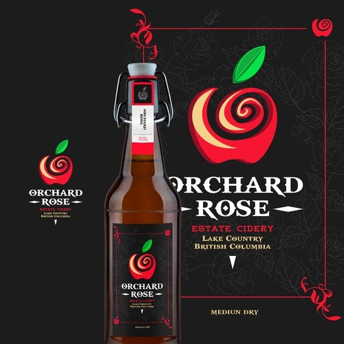 Cider logo with the title 'Orchard Rose Cidery'