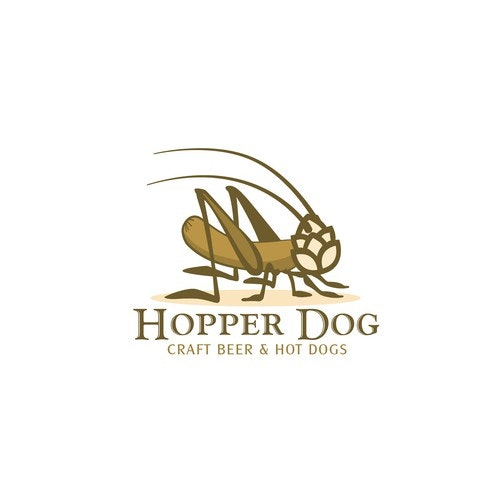 Hot dog logo with the title 'CRAFT BEER & HOT DOGS'