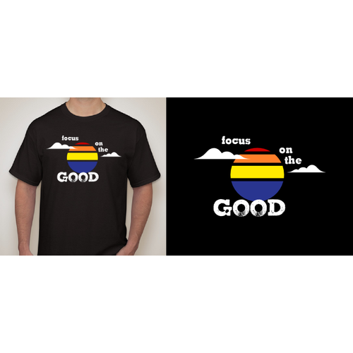 """Happy t-shirt with the title 'T-shirt """"Focus on the Good""""'"""