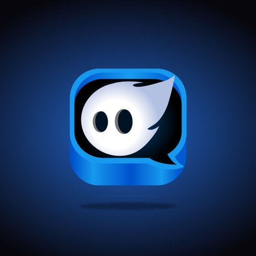 Ghost logo with the title 'App icon for a Scary App'