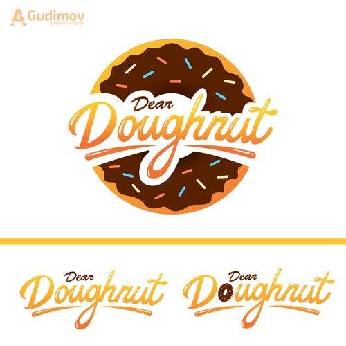 Yummy logo with the title 'Dear Doughnut logo'