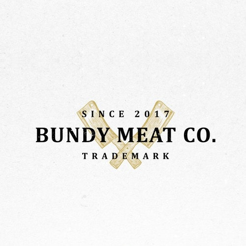 Butcher logo with the title 'Concept for Bundy Meat Co'