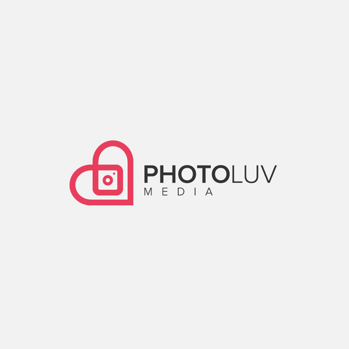 Pink logo with the title 'PhotoLuv Media'