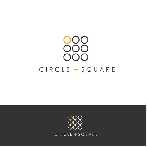 Interior design logo with the title 'circle square'