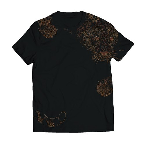 Strong t-shirt with the title 'Jaguar design for t shirt.'