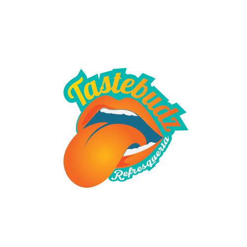 Lip logo with the title 'Logo concept for Tastebudz'