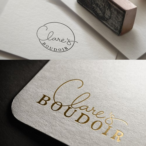 Calligraphy logo with the title 'logo for boudoir photographer'
