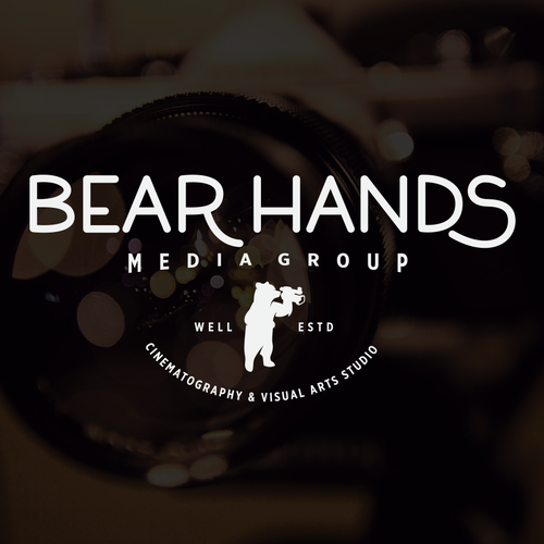 Camera logo with the title 'Bear Hands Media Group Logo'