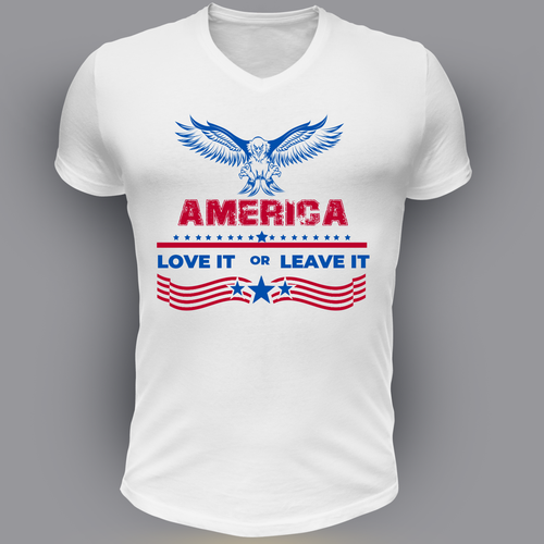 American flag t-shirt with the title ' Patriotic/American T-Shirt'