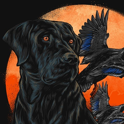 T-shirt with the title 'Duck & Dog for our next T-shirt (Guaranteed)       Killemcamo.com'