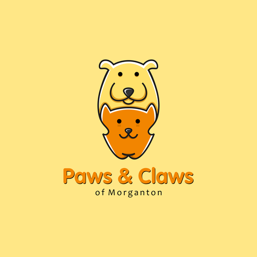 Cat logo with the title 'Cat and Dog'