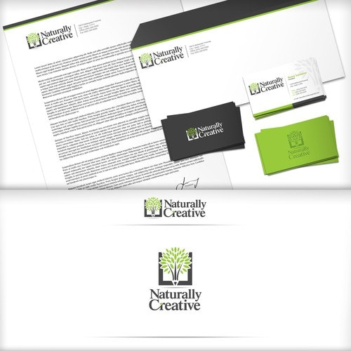 Leaf logo with the title 'Naturally Creative'